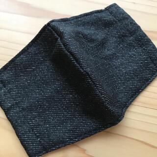 黒デニム インナーマスク 子ども(外出用品)