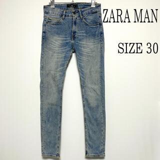 ZARA - ZARA MAN ザラ ユーズド加工 スキニー デニムパンツ ジーンズ W30