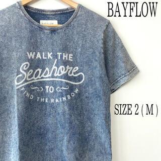 BAYFLOW - BAYFLOW ベイフロー 半袖 プリント Tシャツ M