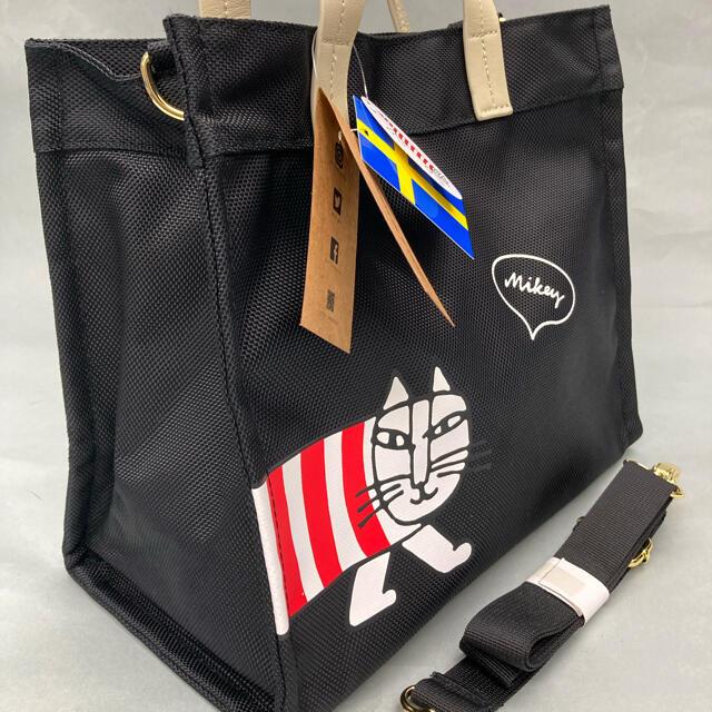 Lisa Larson(リサラーソン)の【新品未使用】リサラーソン 2WAYトート/ショルダーバッグ M ブラック レディースのバッグ(トートバッグ)の商品写真