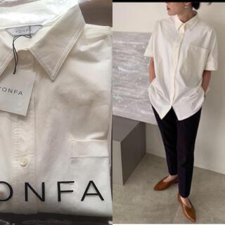DEUXIEME CLASSE - 【新品】yonfa ヨンファ big box shirt (white) シャツ