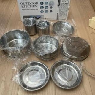 新品未使用キャンプ用コンパクト調理器具8点セット(調理器具)