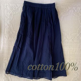 THE EMPORIUM - 春夏秋用 ウエストゴム 木綿100%のスカート
