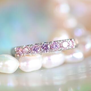 極上天然ピンクダイヤモンド◇プレミアムハンマーリング