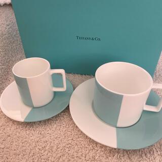 ティファニー(Tiffany & Co.)のTiffany ティファニー カラーブロック カップ&ソーサー 2客セット 新品(食器)
