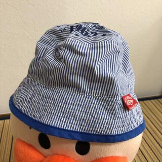 ベビー 帽子 しましま 青 48センチ(帽子)