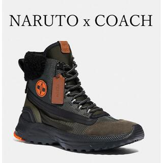 COACH - セール NARUTOxCOACH ナルト ハイブリッド ハイカー ブーツ コラボ