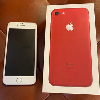 iPhone - iPhone7 RED 美品 128GB SIMロック解除済