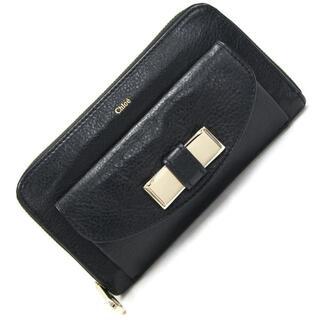 クロエ(Chloe)の クロエ ラウンドファスナー長財布 3P0501 ブラック(財布)