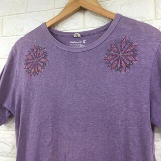 ゴーヘンプ(GO HEMP)の美品 GOHEMP ゴーヘンプ オーガニックコットン Tシャツ S 柄(Tシャツ/カットソー(半袖/袖なし))