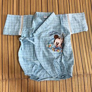 ディズニー(Disney)のベビー ディズニー ミッキー ベビーミッキー 甚兵衛 浴衣 80サイズ(ロンパース)