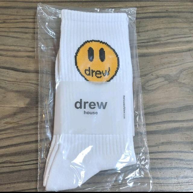 drew house ドリューハウス ソックス くつ下 ホワイト メンズのレッグウェア(ソックス)の商品写真