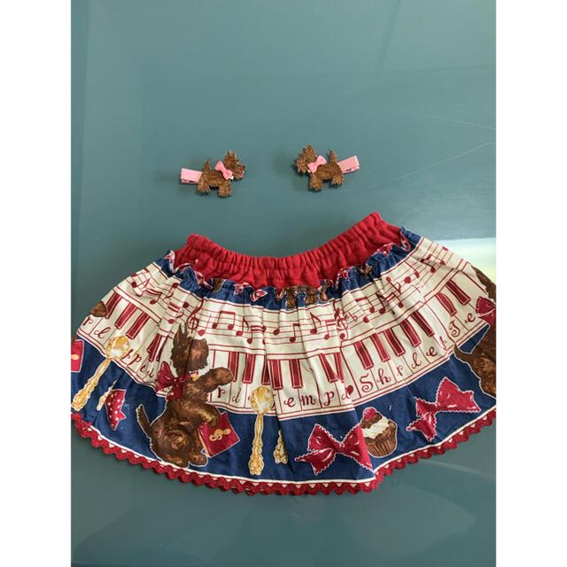 Shirley Temple(シャーリーテンプル)のシャーリーテンプル メロディレッスン スカパン ヘアピンセット キッズ/ベビー/マタニティのキッズ服女の子用(90cm~)(スカート)の商品写真