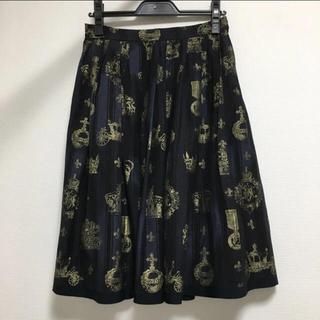 ジェーンマープル(JaneMarple)のジェーンマープル♡ロイヤルストライプシリーズスカート ネイビー(ひざ丈スカート)