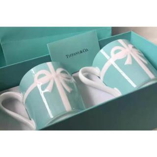 Tiffany & Co. - ティファニー TIFFANY&Co マグカップ ブルー リボン マグカップ