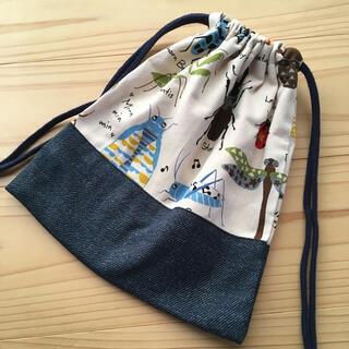 昆虫図鑑 コップ袋 ( 巾着袋 給食袋 )(ランチボックス巾着)
