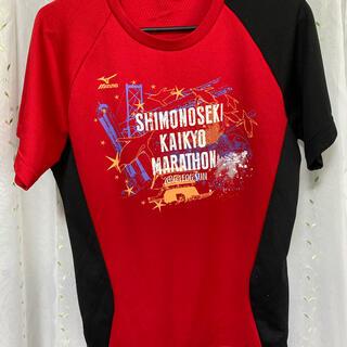 ミズノ(MIZUNO)のMIZUNO 下関海峡マラソン2016 Tシャツ レッド Sサイズ(ウェア)