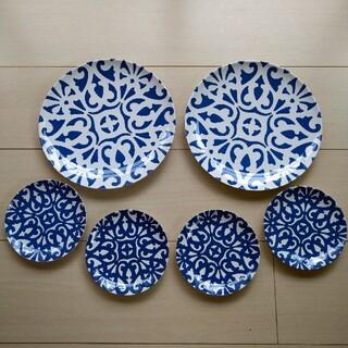 フランフラン(Francfranc)のフランフラン メラミン プレート 6枚セット 食器 皿(食器)