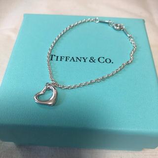 Tiffany & Co. - 【美品】ティファニー オープンハート ブレスレット