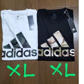 adidas - adidas サイズ O(XL)パフォーマンスロゴT 黒/白2枚セットXL未使用