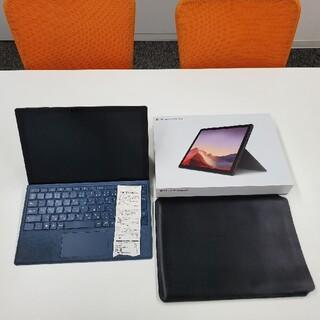 マイクロソフト(Microsoft)のsurface pro7 black キーボード付 ケース付き(ノートPC)