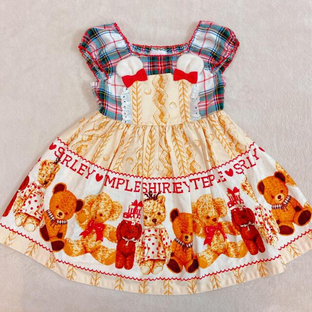 Shirley Temple(シャーリーテンプル)のシャーリーテンプル くま テディベア ワンピース キッズ/ベビー/マタニティのキッズ服女の子用(90cm~)(ワンピース)の商品写真
