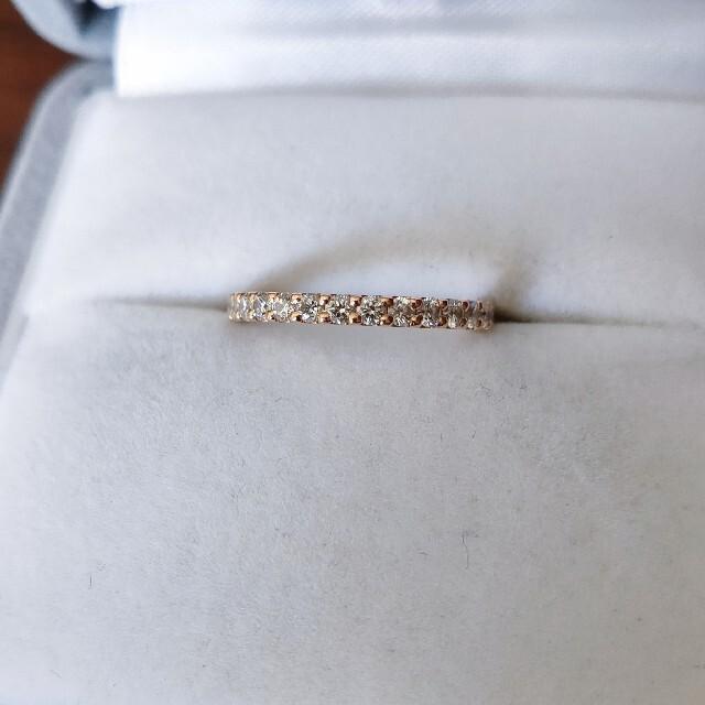 STAR JEWELRY(スタージュエリー)のスタージュエリー ダイヤモンド エタニティ リング K18PG 0.30ct レディースのアクセサリー(リング(指輪))の商品写真