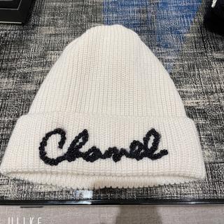 シャネル(CHANEL)のレア CHANEL ニット帽 2021 AW 新作(ニット帽/ビーニー)
