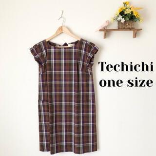 テチチ(Techichi)のTe chichi✨チェック柄ワンピース(ひざ丈ワンピース)