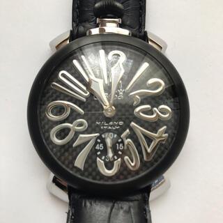 GaGa MILANO - ガガミラノマヌアーレ48MM 5013.01S 手巻き腕時計 正規品 良品BLK