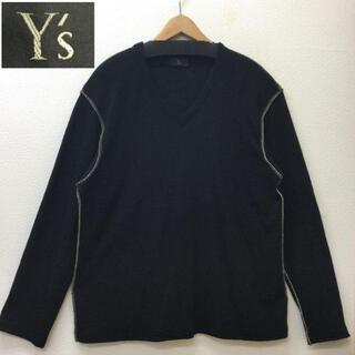 Y's Yohji Yamamoto ヨウジヤマモト Vネック 薄手 ニット セ(ニット/セーター)