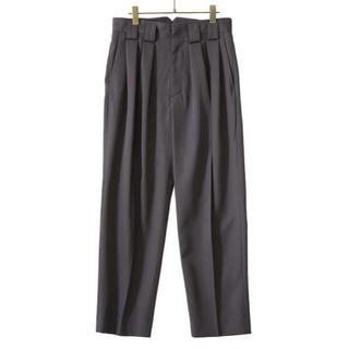アンユーズド(UNUSED)のstein 21ss Double Wide Trousers GR.khaki(スラックス)