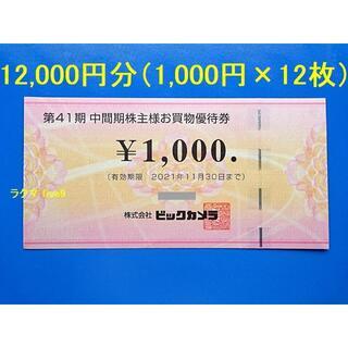 ビックカメラ 株主優待券 12000円分 買物優待券 コジマ ソフマップ BIC