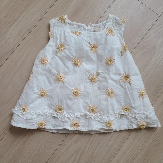 petit main(プティマイン)のプティマイン 刺繍チュニック キッズ/ベビー/マタニティのキッズ服女の子用(90cm~)(Tシャツ/カットソー)の商品写真