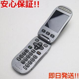 フジツウ(富士通)の美品 F-07A メタルシルバー 白ロム(携帯電話本体)