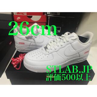 シュプリーム(Supreme)の白 26cm Supreme Nike Air Force(スニーカー)