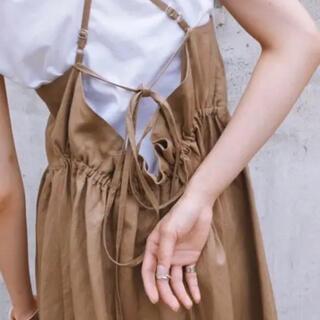 IENA SLOBE - CLANE リネン キャミソール ワンピース