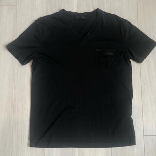 PRADA - PRADA VネックTシャツ ブラック S