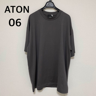 COMOLI - 新品 ATON エイトン SUVIN 60/2 オーバーサイズTシャツ 濃灰06
