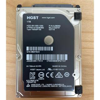 アップル(Apple)のApple純正2.5インチ HDD/1TB HGST(日立)製(PCパーツ)