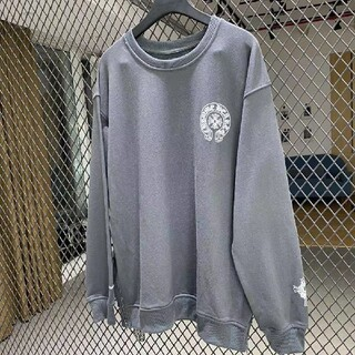 Chrome Hearts - Chrome Hearts謎の灰色のファスナー重工衛衣