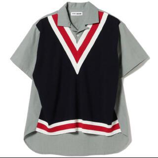 TTT_MSW 21ss Knit Vest Docking Shirt