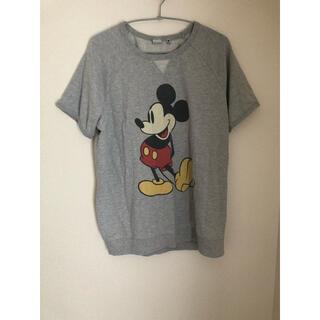 Disney - XL ミッキー スウェット tシャツ グレー