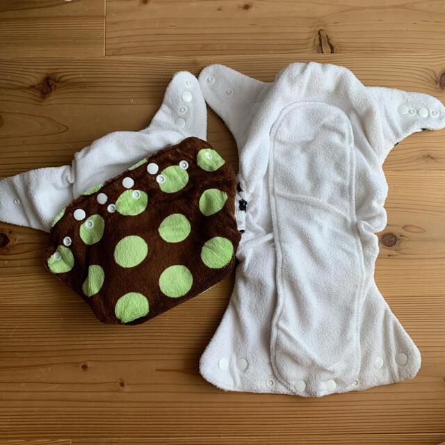 布おむつ Cushie Tushies おむつカバー 2セット キッズ/ベビー/マタニティのおむつ/トイレ用品(布おむつ)の商品写真