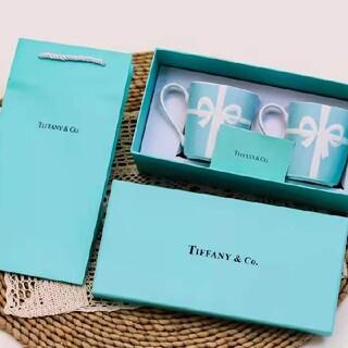 ティファニー(Tiffany & Co.)のティファニー ペアマグカップ リボン(食器)