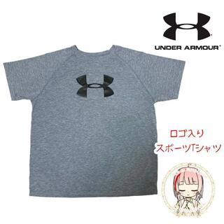 UNDER ARMOUR - アンダーアーマー デカロゴ Tシャツ M YXL スポーツ ヒートギア