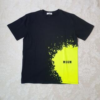 MSGM - 【新品・未使用】MSGM KIDS ロゴペイントコットンTシャツ黒 14Y