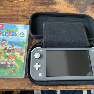 Nintendo Switch - ニンテンドー Switch  LITE グレー あつ森 DL版パワプロ2020