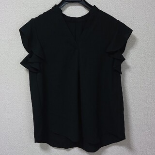 ユナイテッドアローズ(UNITED ARROWS)の袖フリル Vネック ノースリーブ  ブラウス(シャツ/ブラウス(半袖/袖なし))