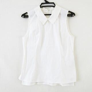 フォクシー(FOXEY)のフォクシー ノースリーブシャツブラウス 40(シャツ/ブラウス(半袖/袖なし))